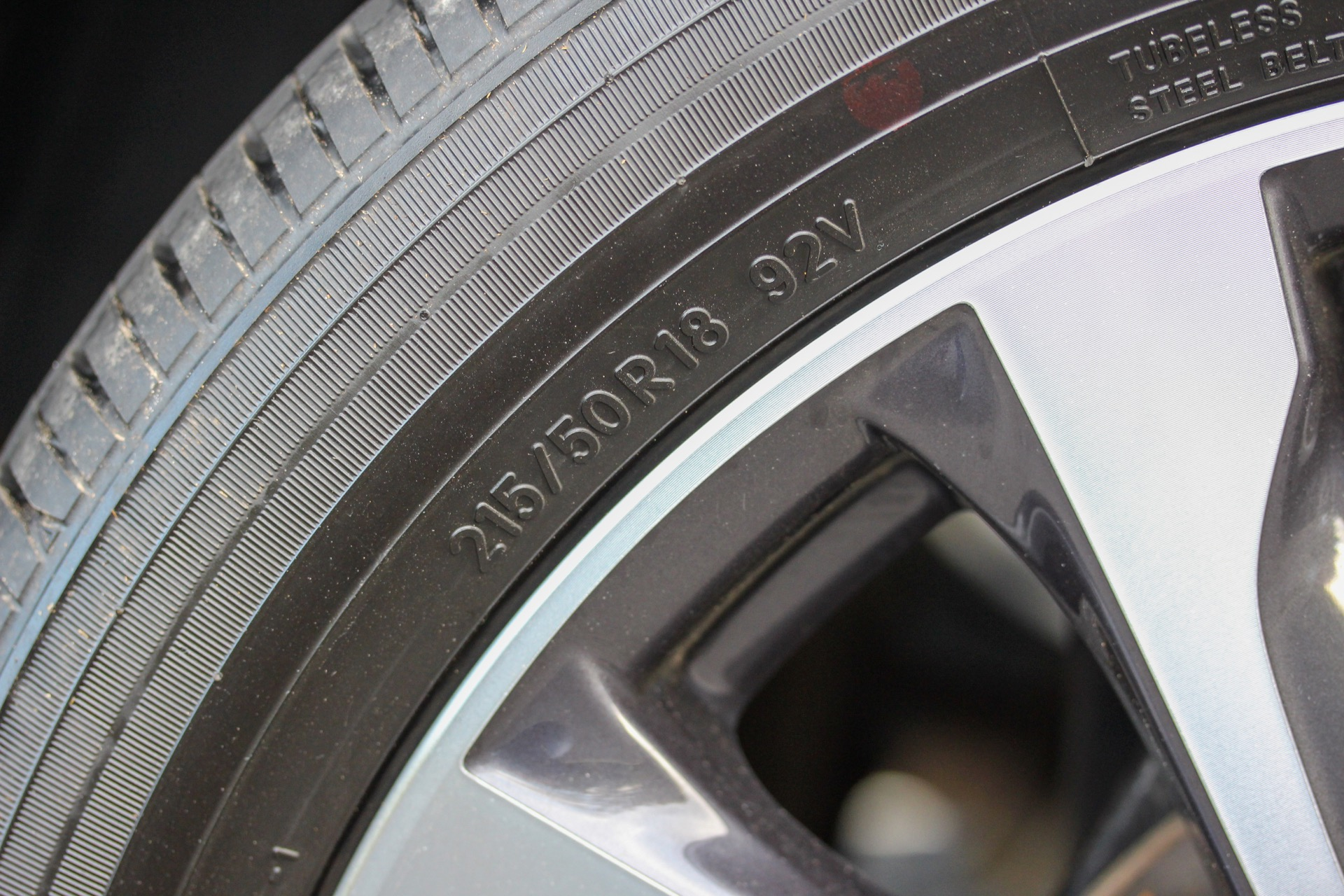 Tire info on sidewall